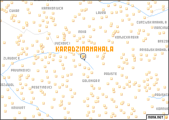 map of Karadžina Mahala