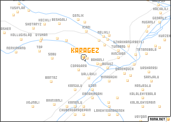 map of Karagëz