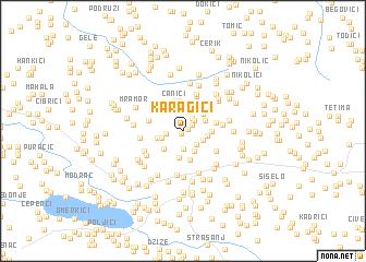 map of Karagići