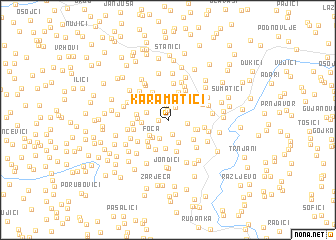 map of Karamatići