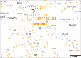 map of Karanovići