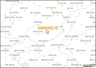 map of Karapolis