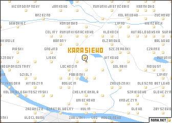 map of Karasiewo