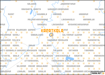 map of Karāt Kola