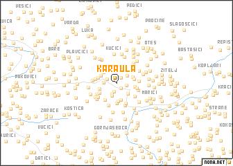 map of Karaula
