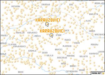 map of Karauzovići
