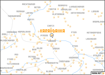 map of Karavdaíïka