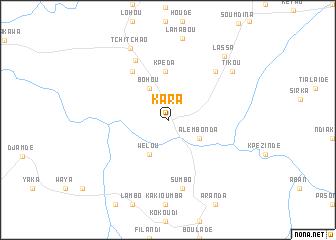 Kara (Togo) map - nona.net