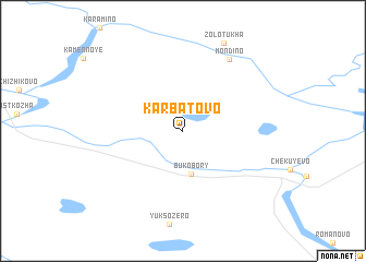 map of Karbatovo