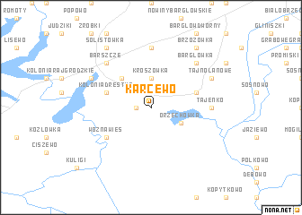map of Karcewo