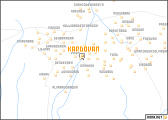 map of Kardovān