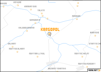 map of Kargopol\