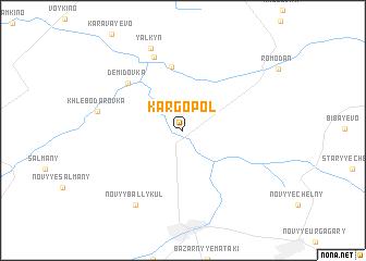 map of Kargopol\