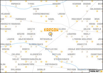 map of Kargów