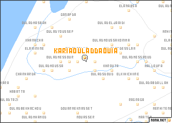 map of Karia Oulad Daouia