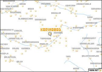 map of Karīmābād