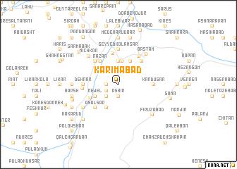map of Karīmābād