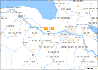map of Karīm