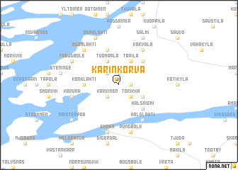 map of Karinkorva