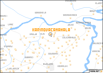 map of Karinovača Mahala