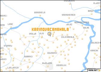 map of Karinovača Mahala