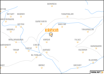map of Karkın