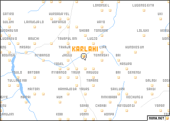 map of Karlahi
