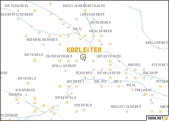 map of Karleiten
