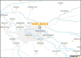 map of Karłowice