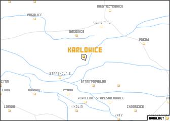 map of Karłowice