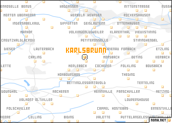 map of Karlsbrunn