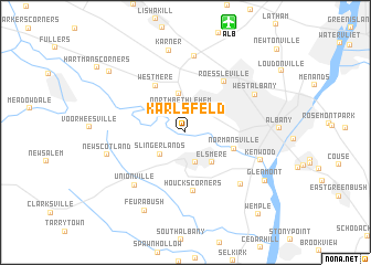 map of Karlsfeld