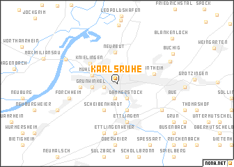 Map Of Germany Karlsruhe Baden.Karlsruhe Germany Map Nona Net
