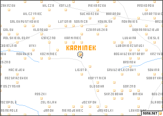 map of Karminek