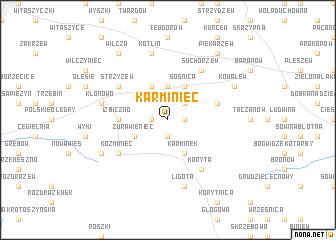 map of Karminiec