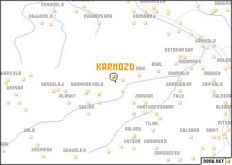 map of Kārmozd