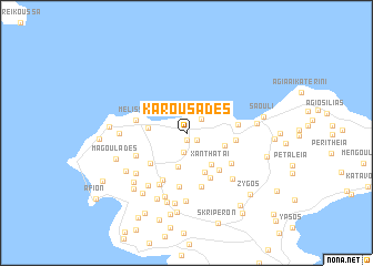 map of Karousádes