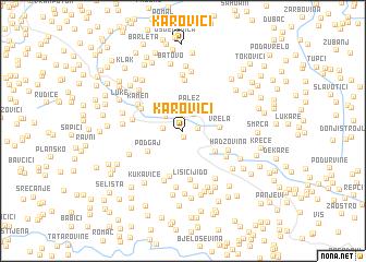 map of Karovići