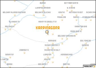 map of Karpina Gora