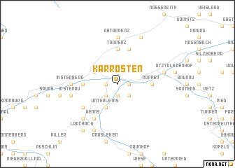 map of Karrösten