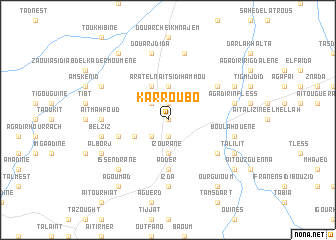 map of Karroubo