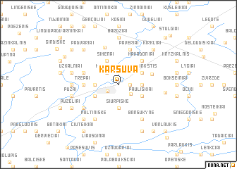 map of Karšuva