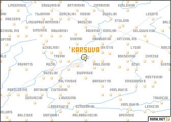 map of Karšuva