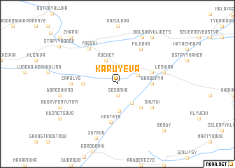 map of Karuyeva