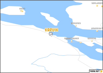 map of Karvik