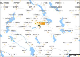 map of Karwie