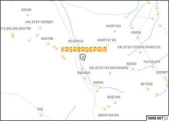 map of Kasābād-e Pā\