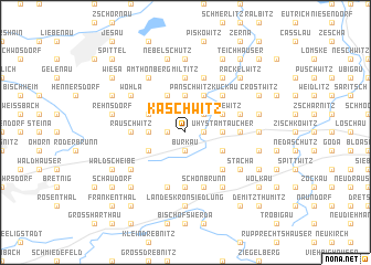 map of Kaschwitz