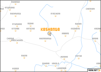 map of Kashanda