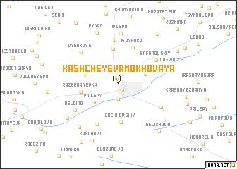 map of Kashcheyeva Mokhovaya